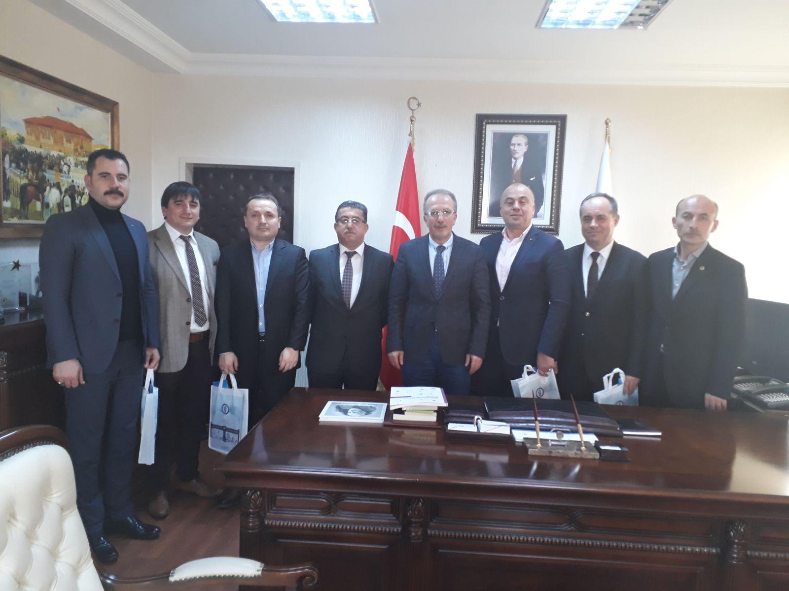 Bartın EBS Yönetimi Rektör Prof. Dr. Orhan UZUN'u ziyaret etti
